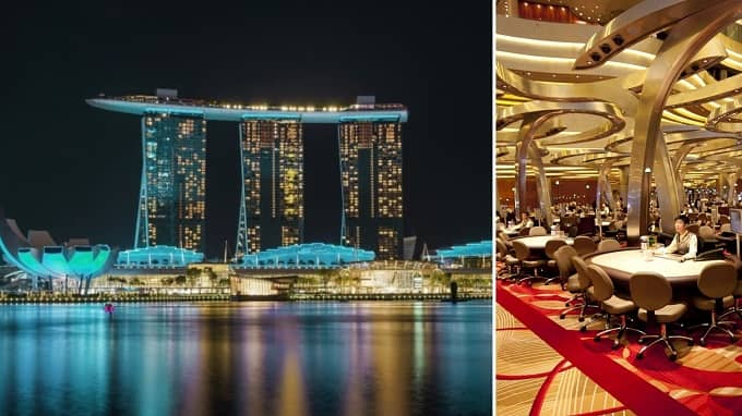 What are the top gambling destinations in Singapore?