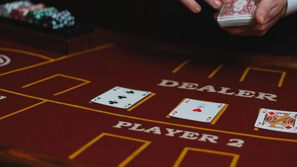 In the Blackjack playbook, what will you do when the dealer shows you an Ace?